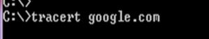tracert google