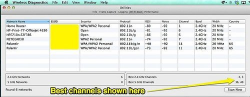 How to Find Out What WiFi Channels are being Used