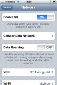 cellular data vs data roaming