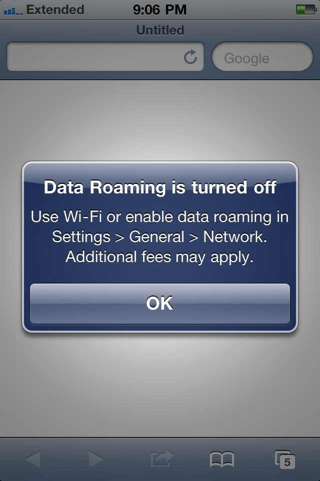 iPhone Data Roaming