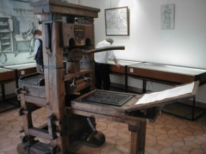 when and where was the printing press invented